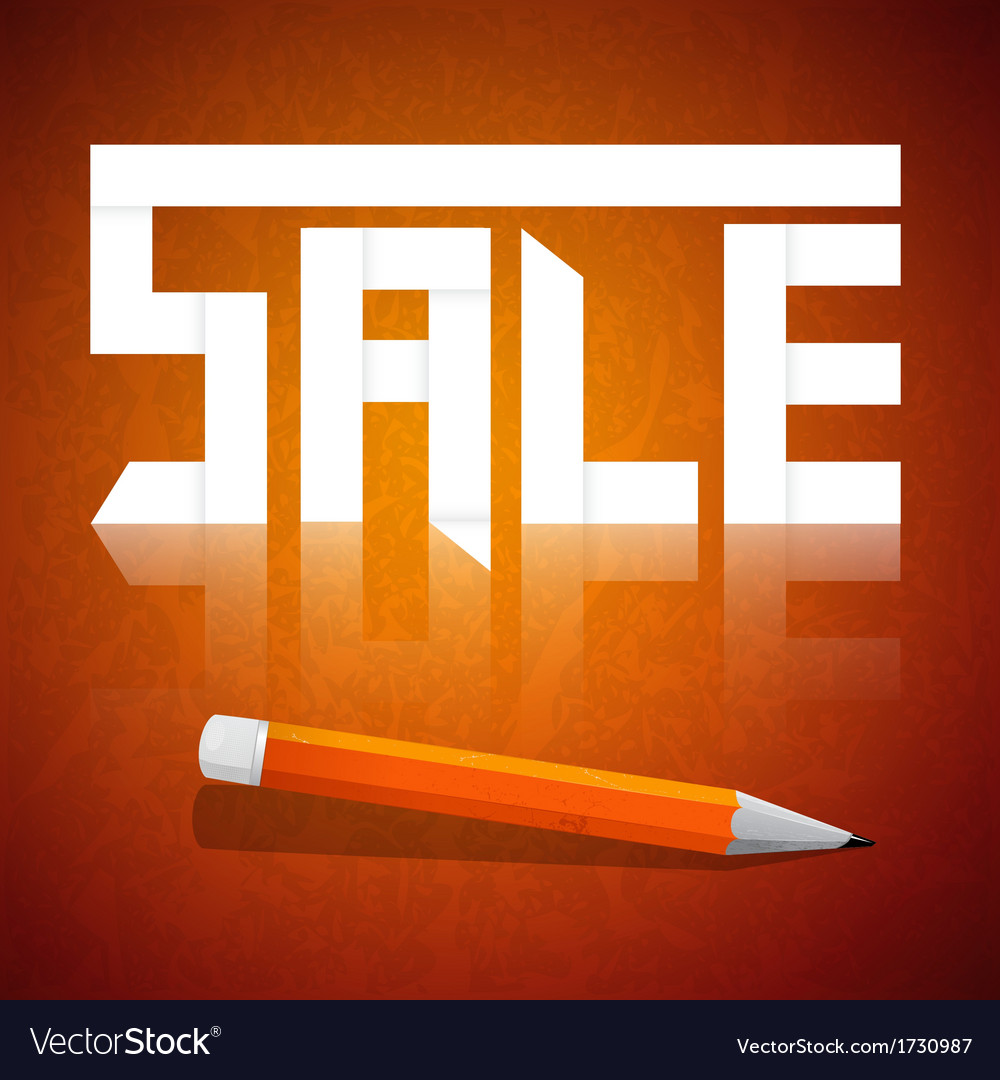 Sale pencil vector | Price: 1 Credit (USD $1)