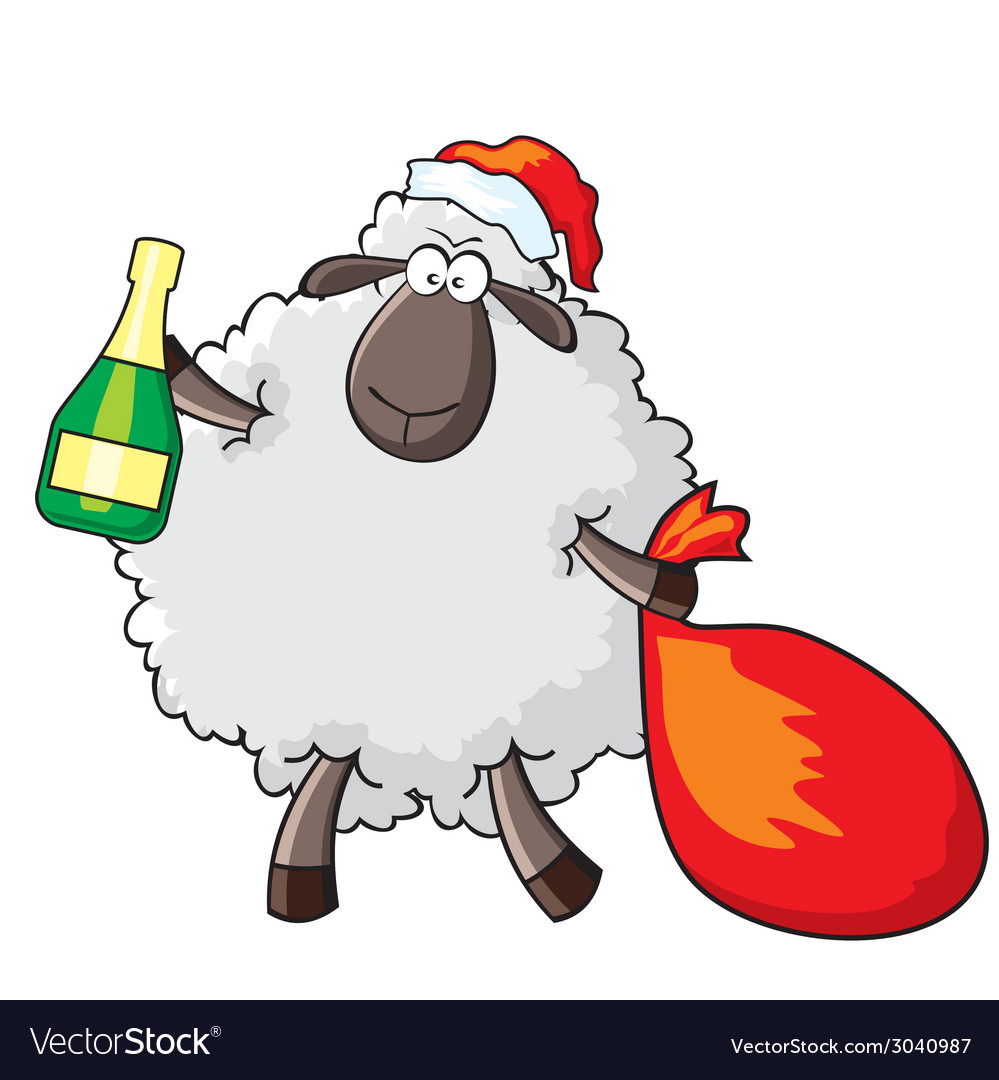 Sheep - santa vector | Price: 1 Credit (USD $1)