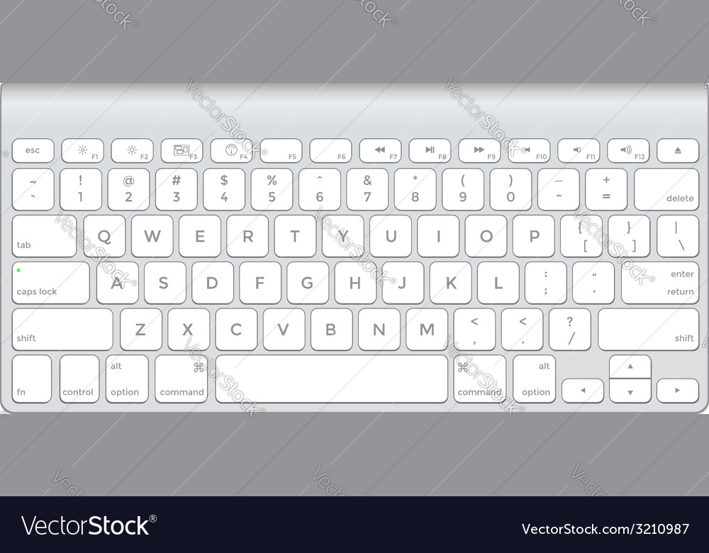Short aluminum computer keyboard vector | Price: 1 Credit (USD $1)
