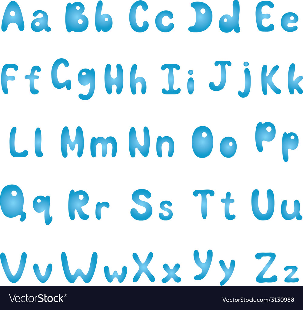 Alphabet blue vector | Price: 1 Credit (USD $1)