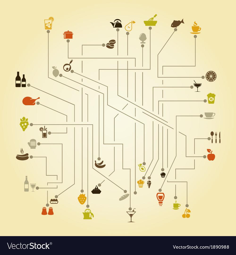 Food the scheme vector | Price: 1 Credit (USD $1)
