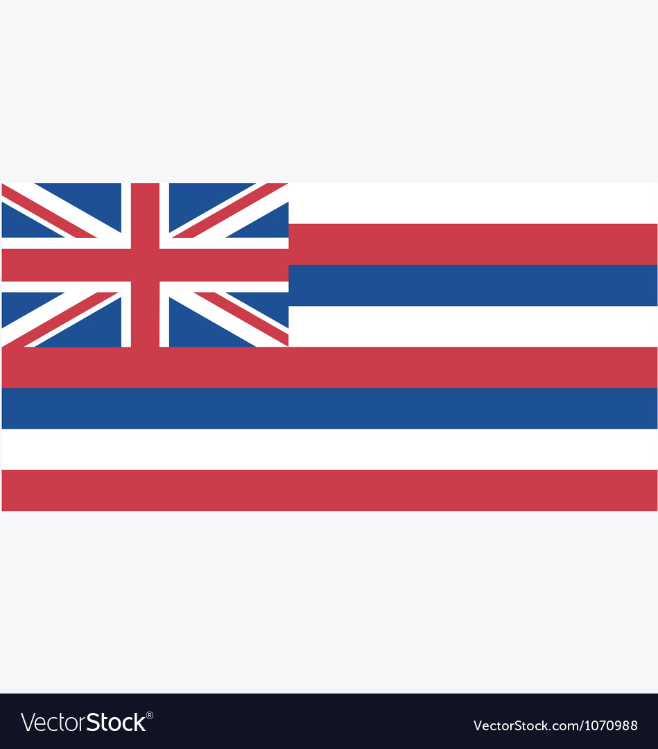 Hawaiian state flag vector | Price: 1 Credit (USD $1)