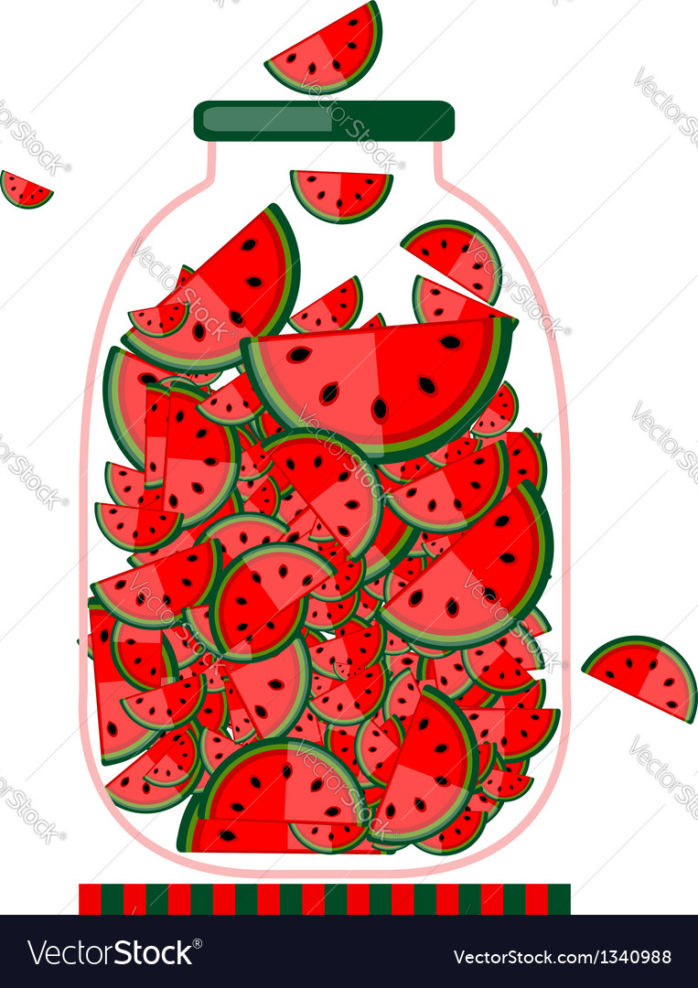Jar with fruit jam for your design vector | Price: 1 Credit (USD $1)