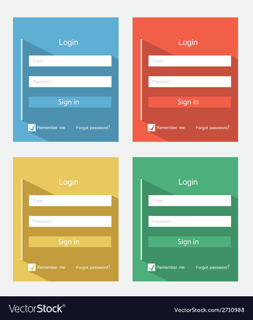 Login forms vector | Price: 1 Credit (USD $1)