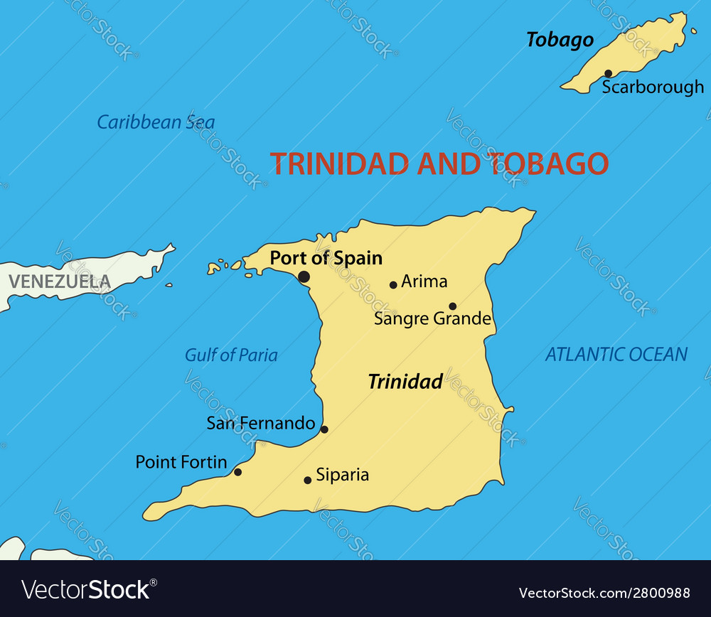 Republic of trinidad and tobago - map vector | Price: 1 Credit (USD $1)