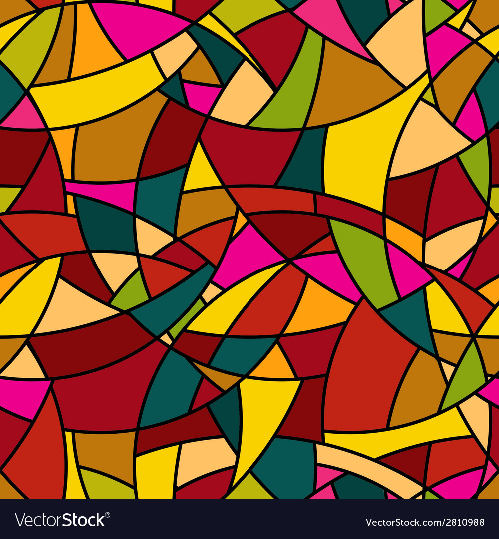 Seamless pattern - stained-glass window texture vector | Price: 1 Credit (USD $1)