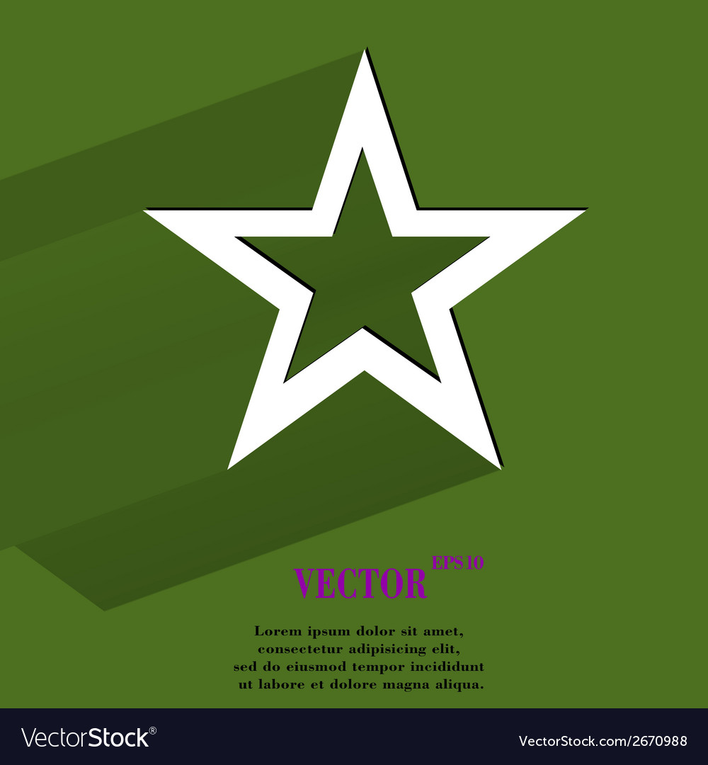 Star web icon flat design vector | Price: 1 Credit (USD $1)