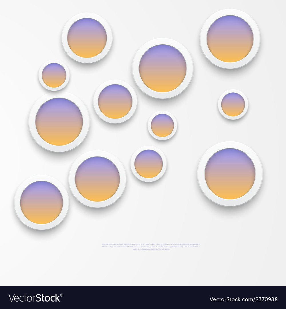 White paper round notes vector | Price: 1 Credit (USD $1)