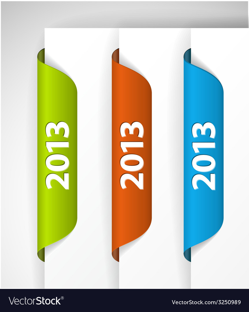 2013 labels stickers vector | Price: 1 Credit (USD $1)