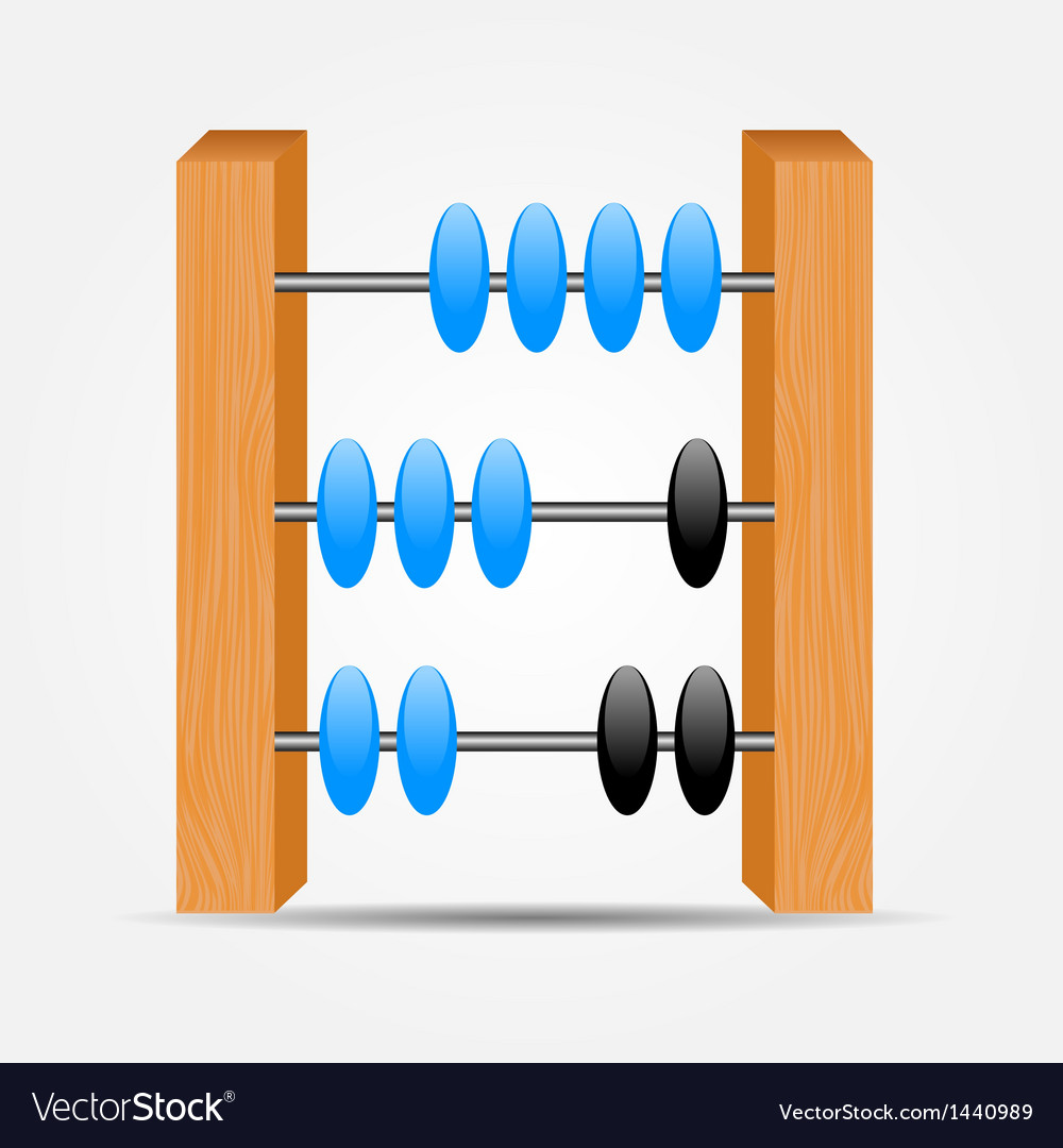 Abacus icon vector | Price: 1 Credit (USD $1)