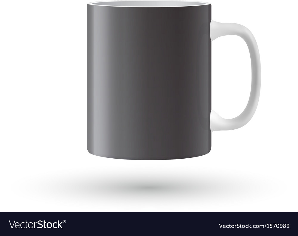 Black mug vector | Price: 1 Credit (USD $1)