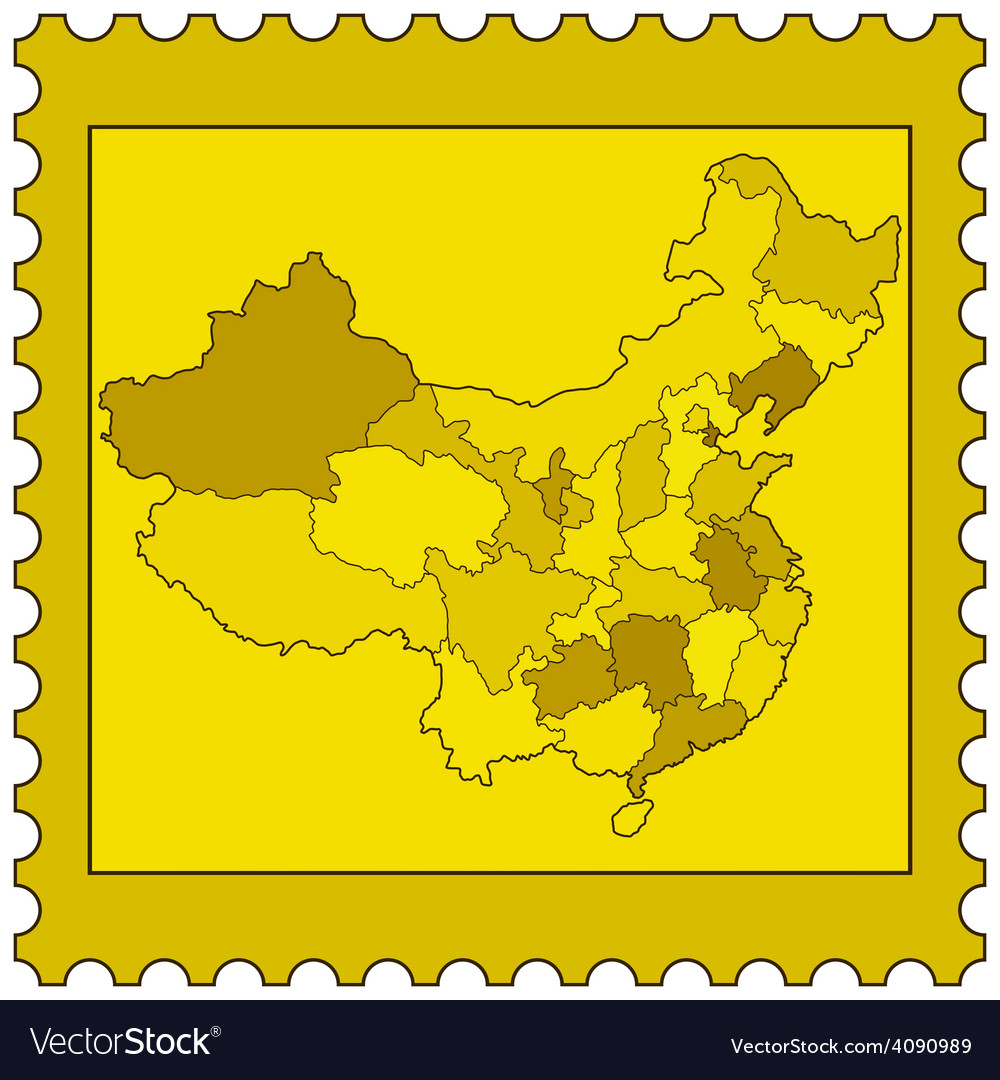 China on stamp vector | Price: 1 Credit (USD $1)