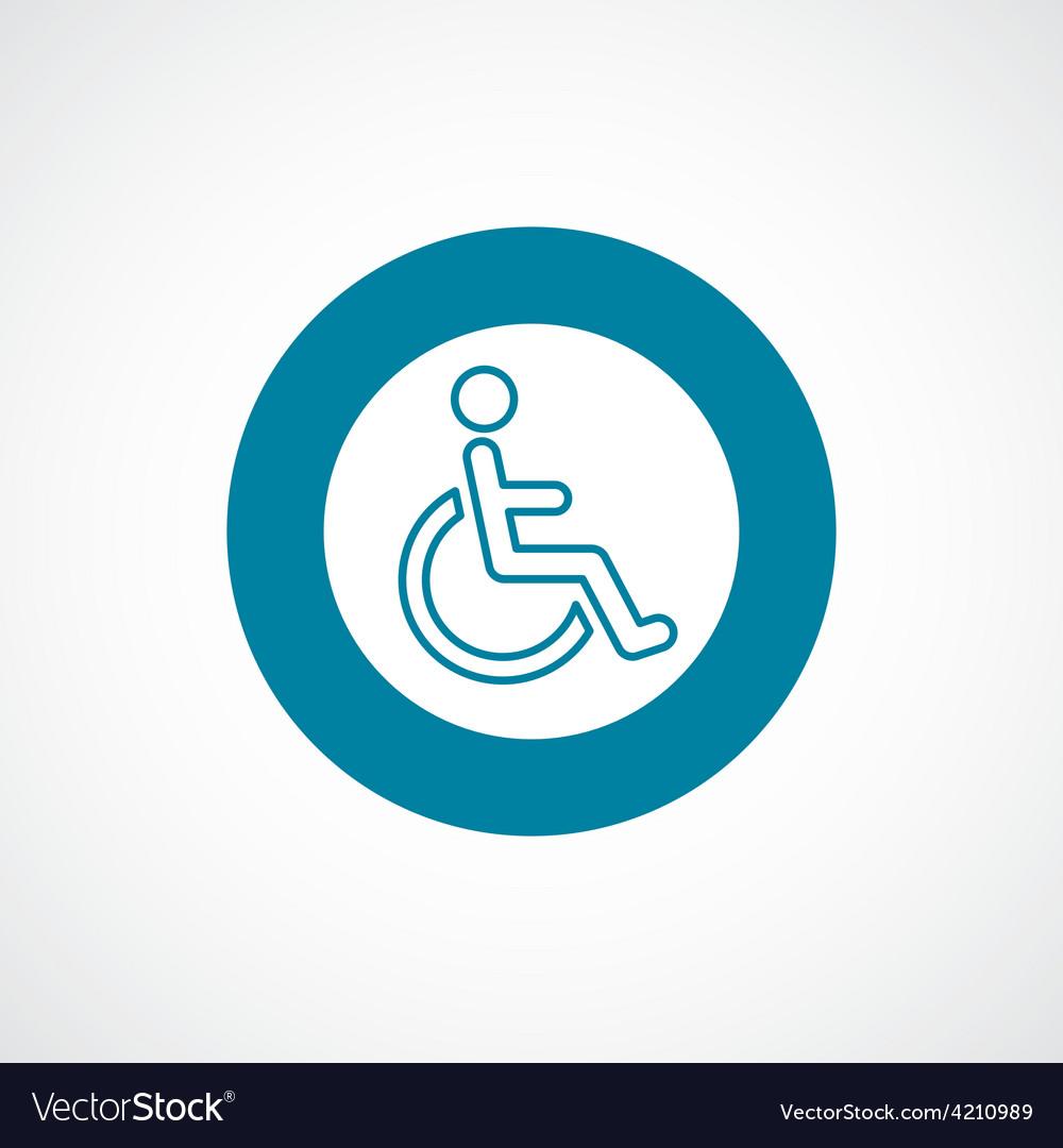Cripple icon bold blue circle border vector | Price: 1 Credit (USD $1)