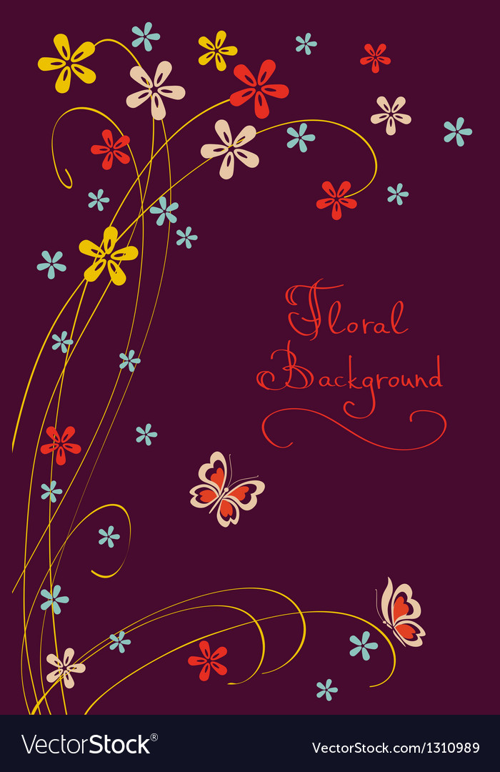 Cute floral background modern card vector | Price: 1 Credit (USD $1)