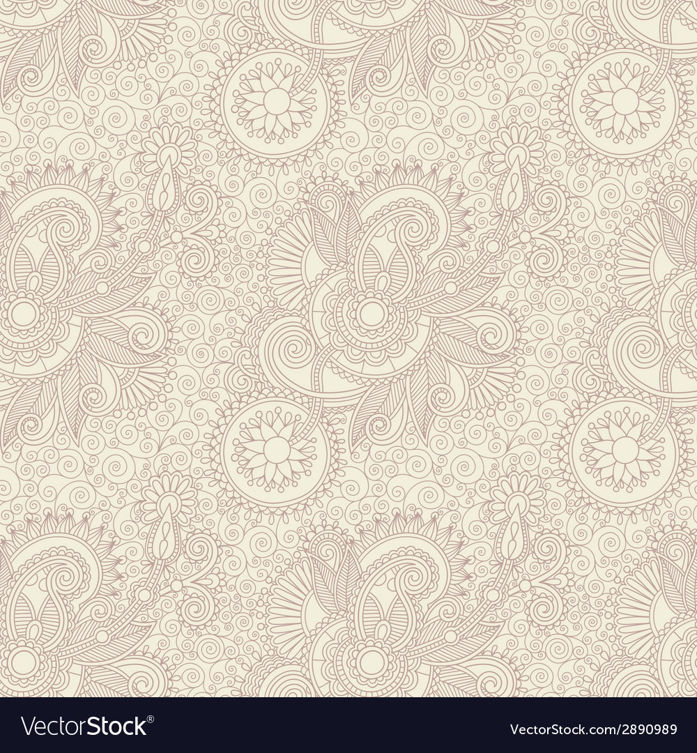 Digital drawing ornate seamless flower paisley vector | Price: 1 Credit (USD $1)