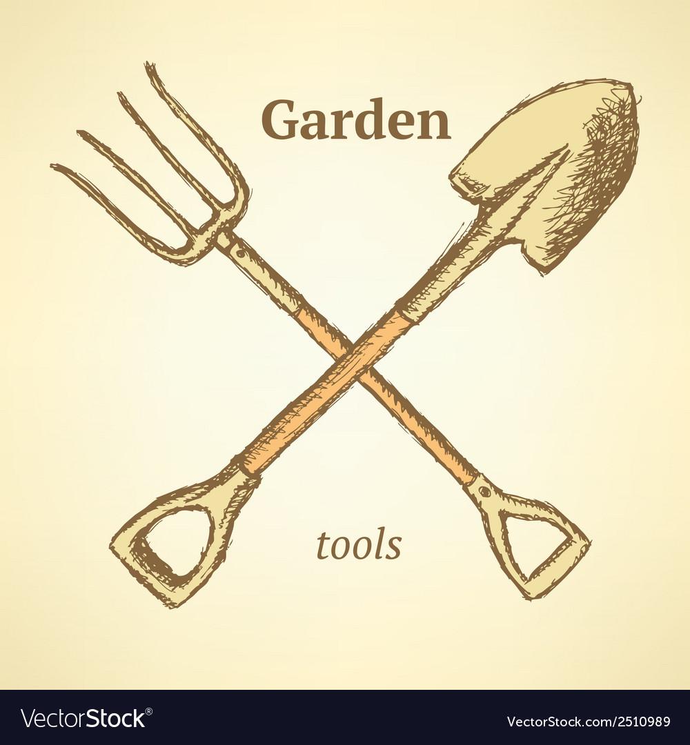 Garden fork shovel vector | Price: 1 Credit (USD $1)