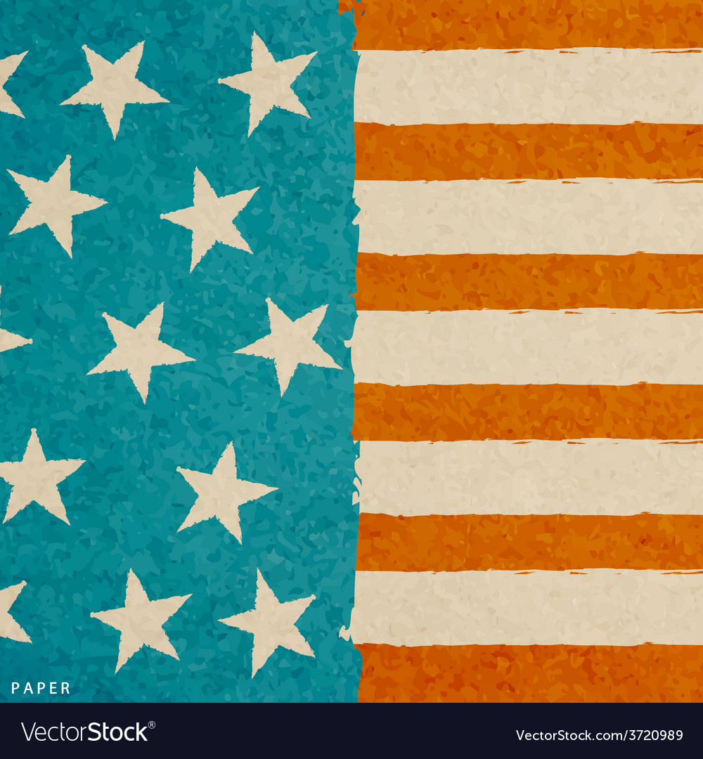Grunge paper texture american flag vector | Price: 1 Credit (USD $1)