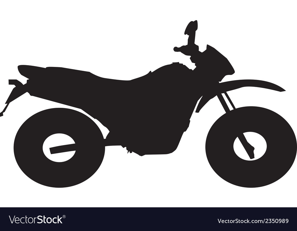 Motorbike silhouette vector | Price: 1 Credit (USD $1)