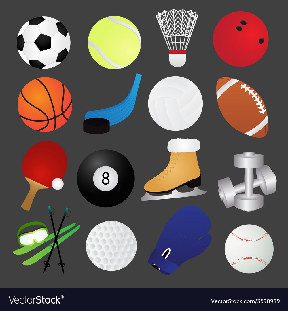 Sport icons collection vector   Price: 1 Credit (USD $1)
