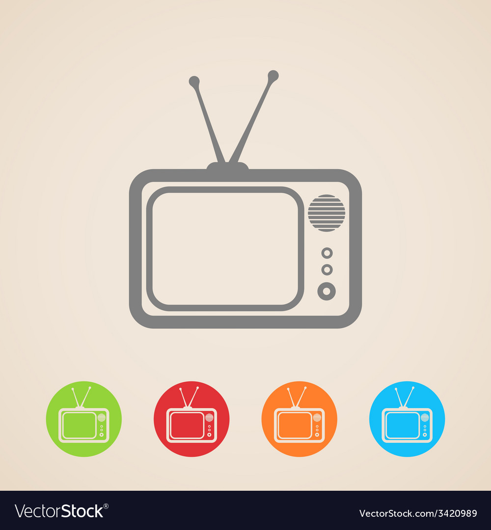 Tv icons vector | Price: 1 Credit (USD $1)