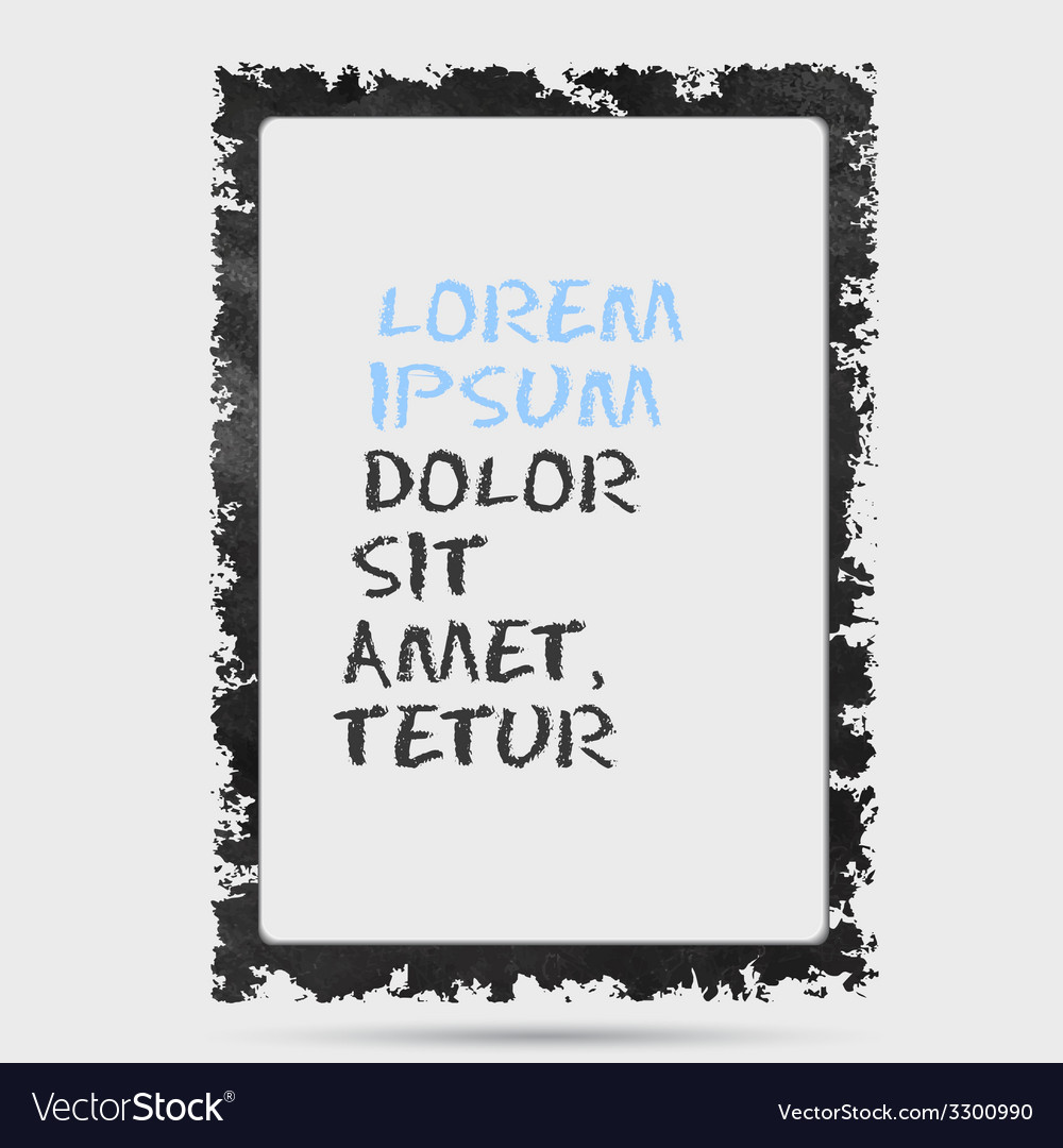 Black grunge frame on a wall background design vector | Price: 1 Credit (USD $1)