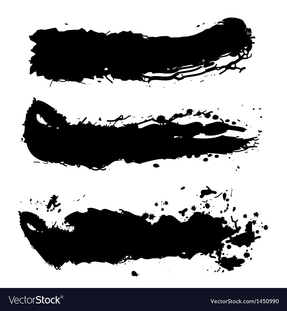 Black paint splash vector | Price: 1 Credit (USD $1)