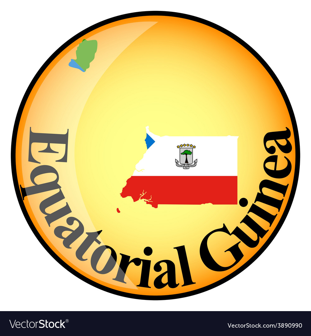 Button equatorial guinea vector | Price: 1 Credit (USD $1)