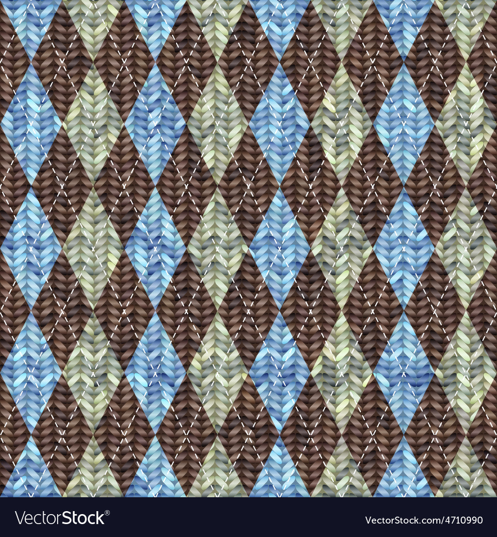 Classic argyle pattern in knitting style vector | Price: 1 Credit (USD $1)