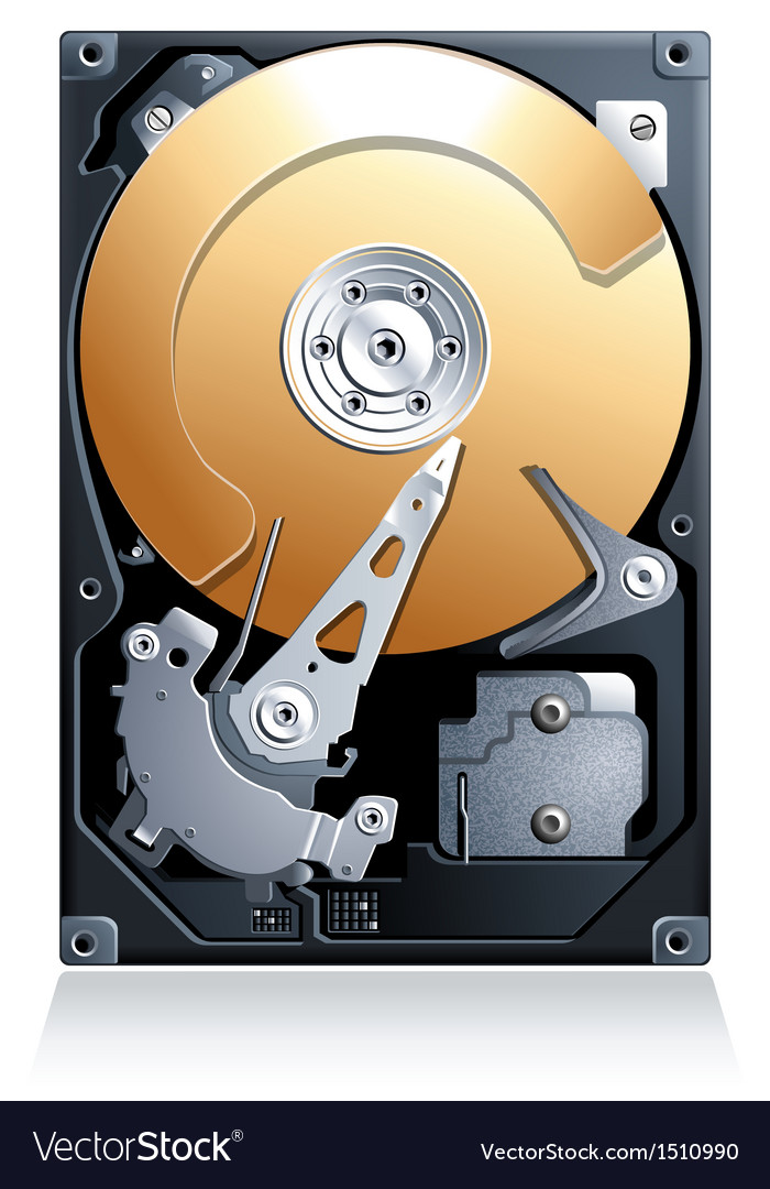 Computer hard disk drive hdd vector | Price: 3 Credit (USD $3)
