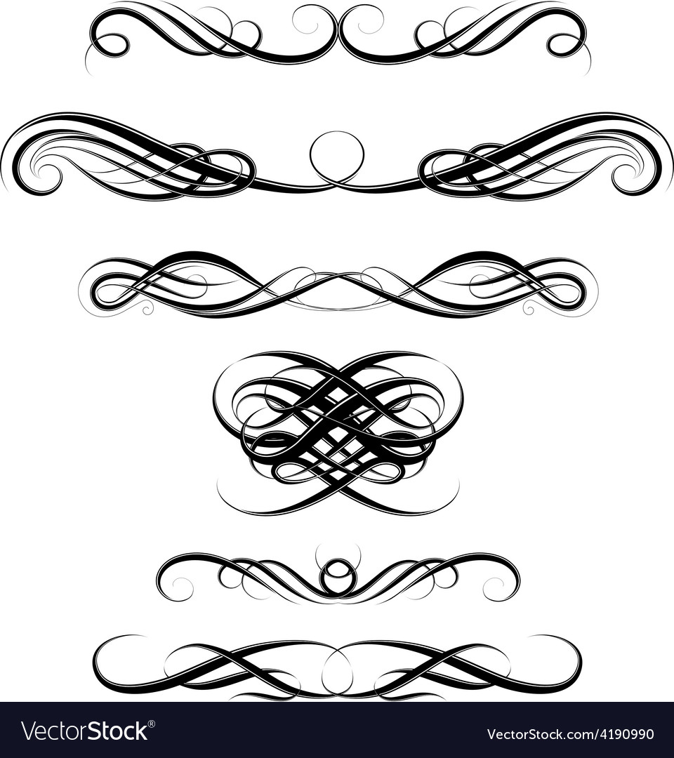 Elegant vintage borders vector | Price: 1 Credit (USD $1)