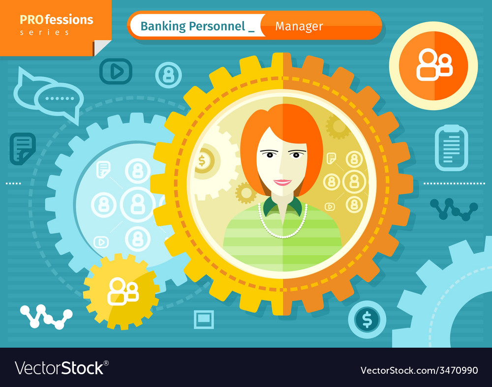 Female bank manager profession concept vector | Price: 1 Credit (USD $1)