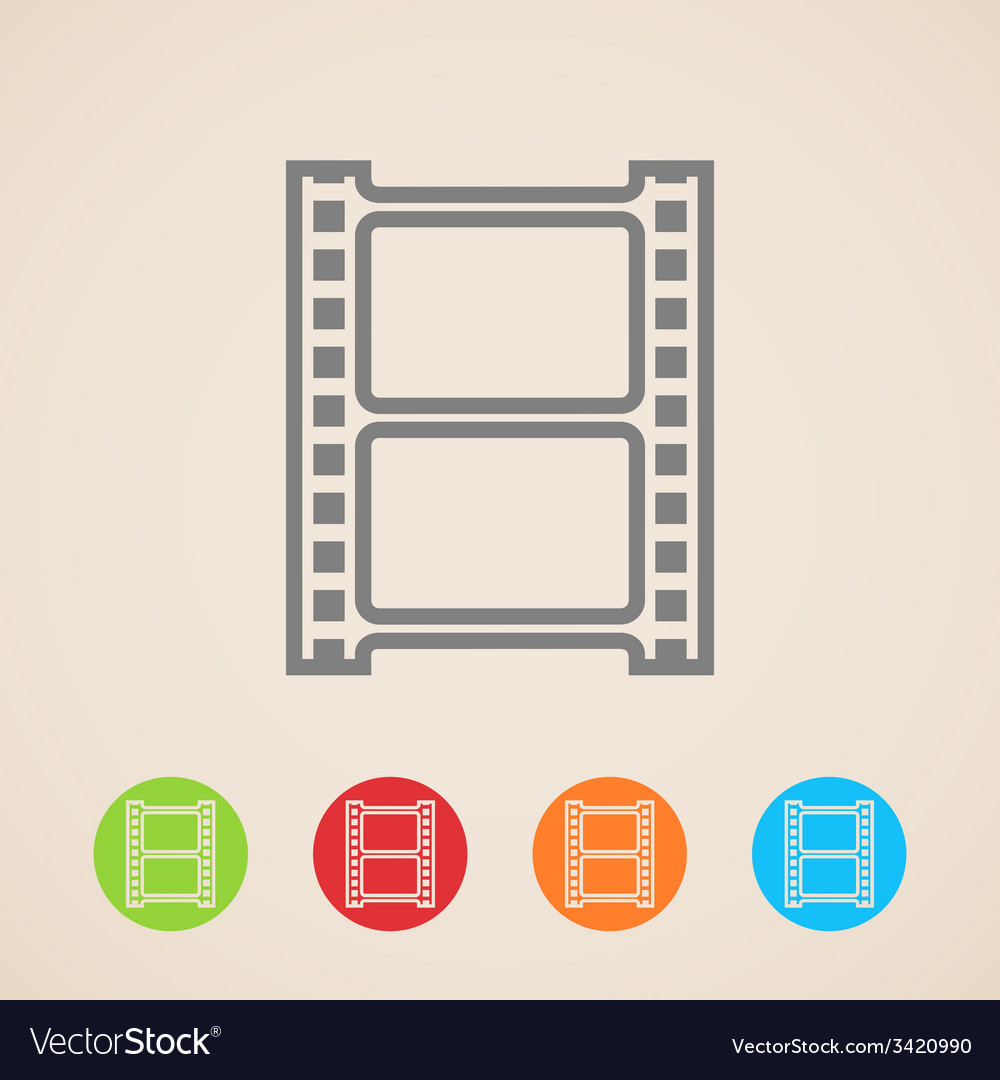 Film strip icons vector | Price: 1 Credit (USD $1)
