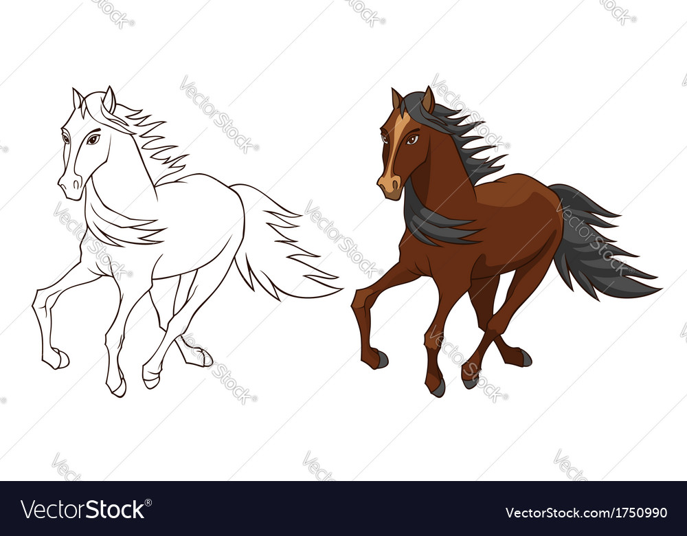 Horse brown vector | Price: 1 Credit (USD $1)