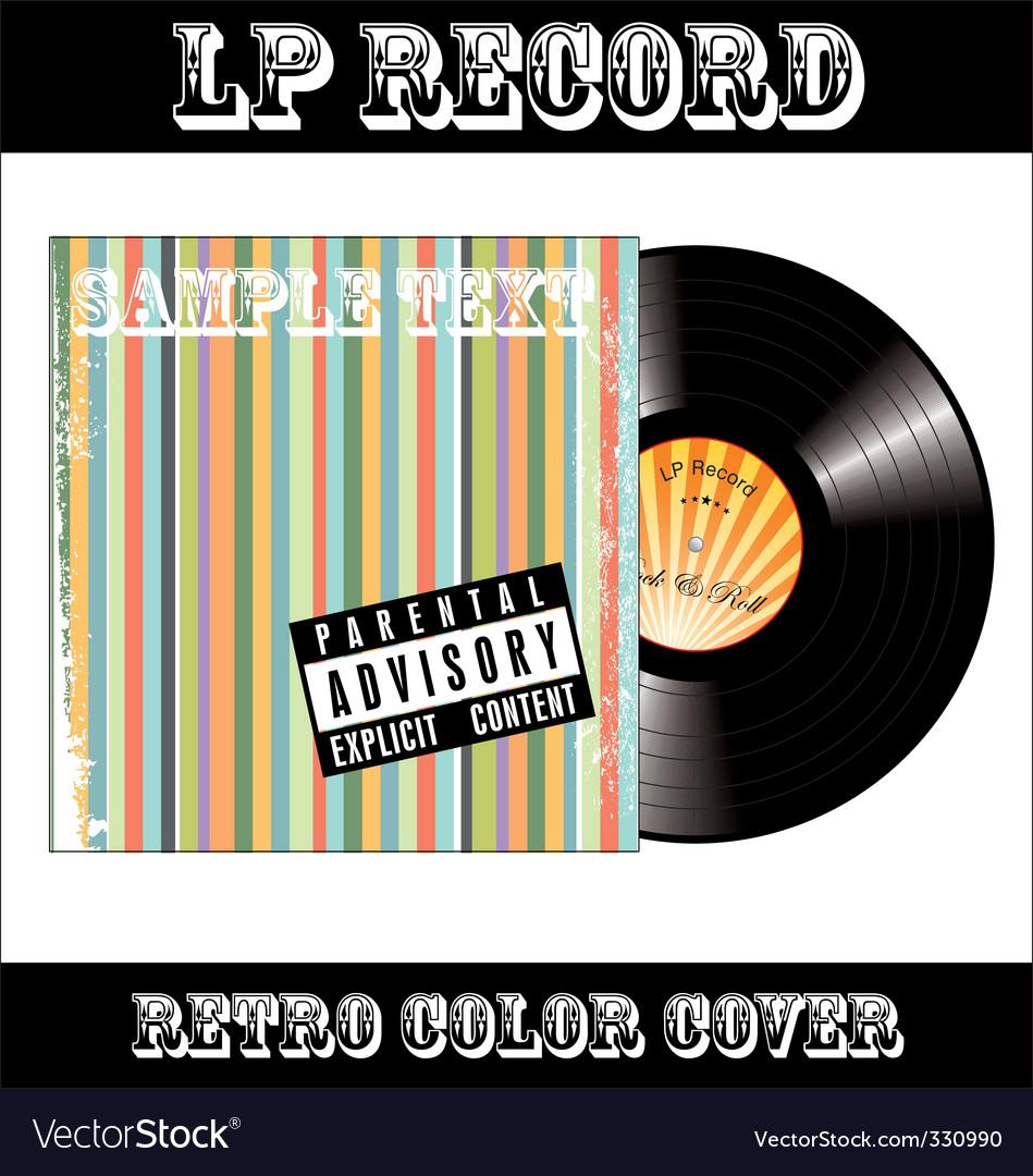 Lp vinyl record vector | Price: 1 Credit (USD $1)