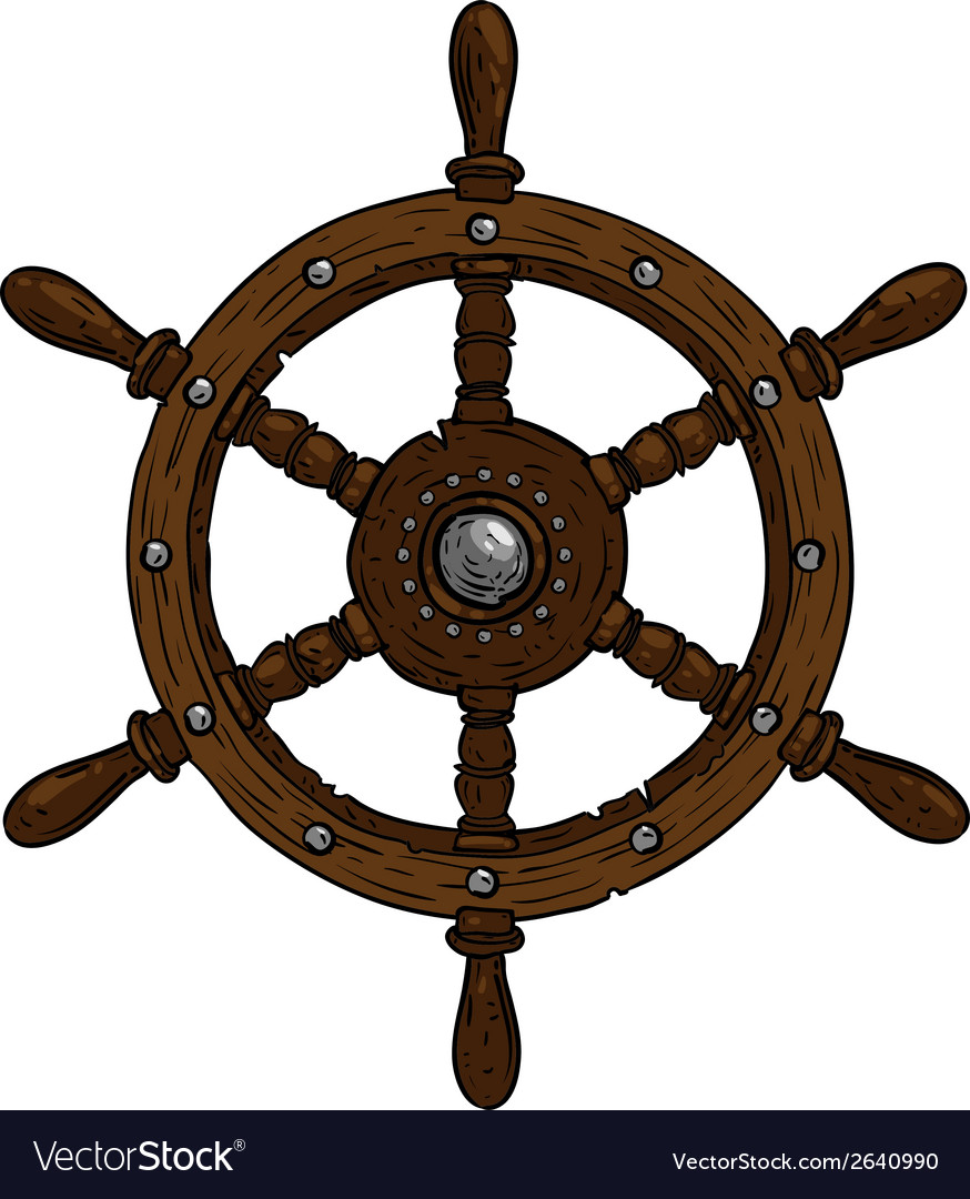 Marine theme steering wheel vector | Price: 1 Credit (USD $1)