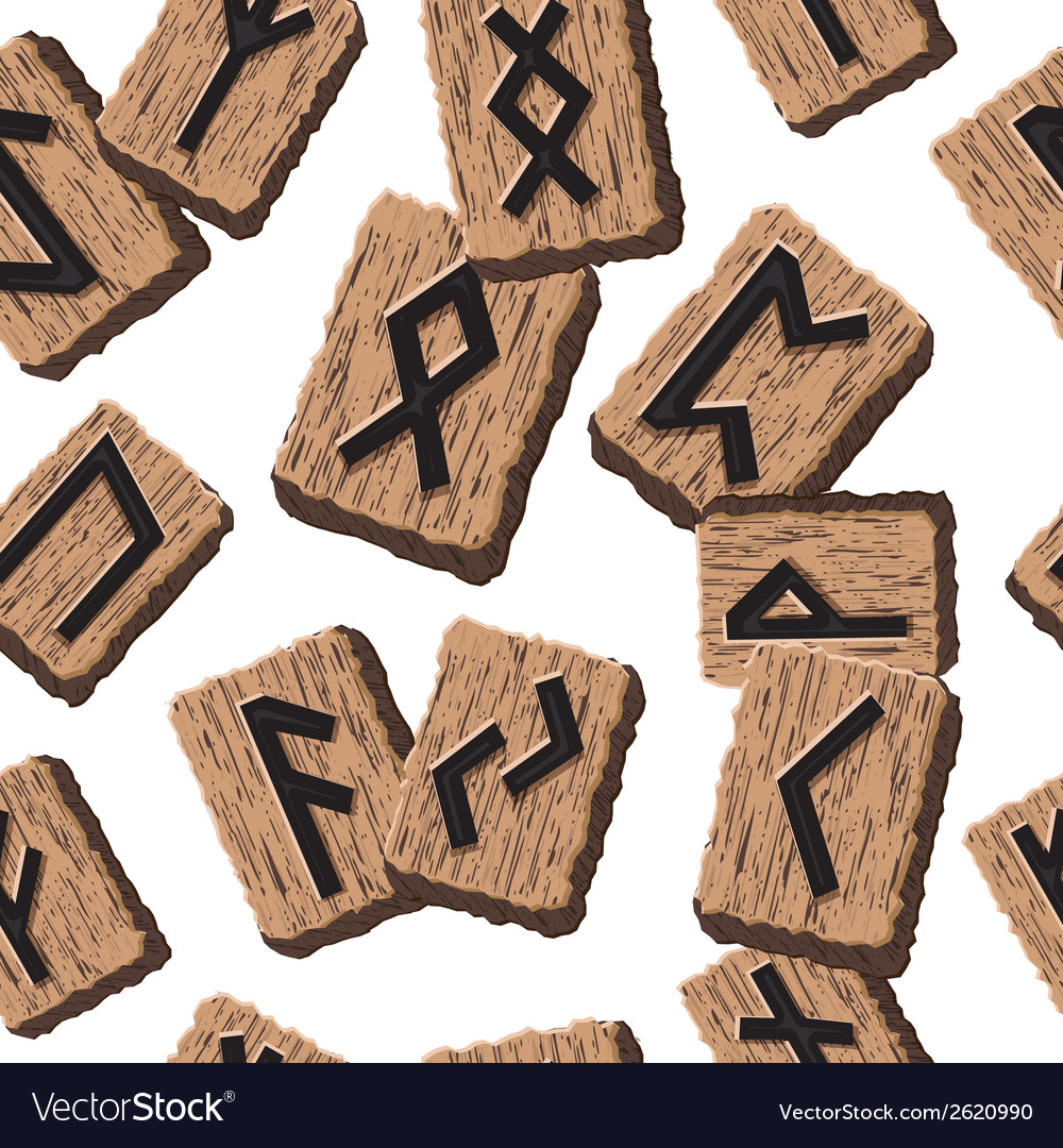 Norwegian runes abstract background with template vector | Price: 1 Credit (USD $1)