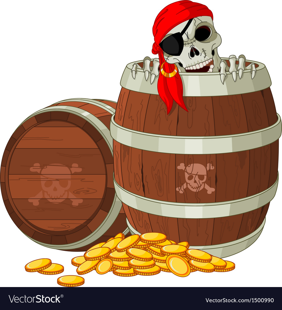 Pirate skeleton vector | Price: 3 Credit (USD $3)