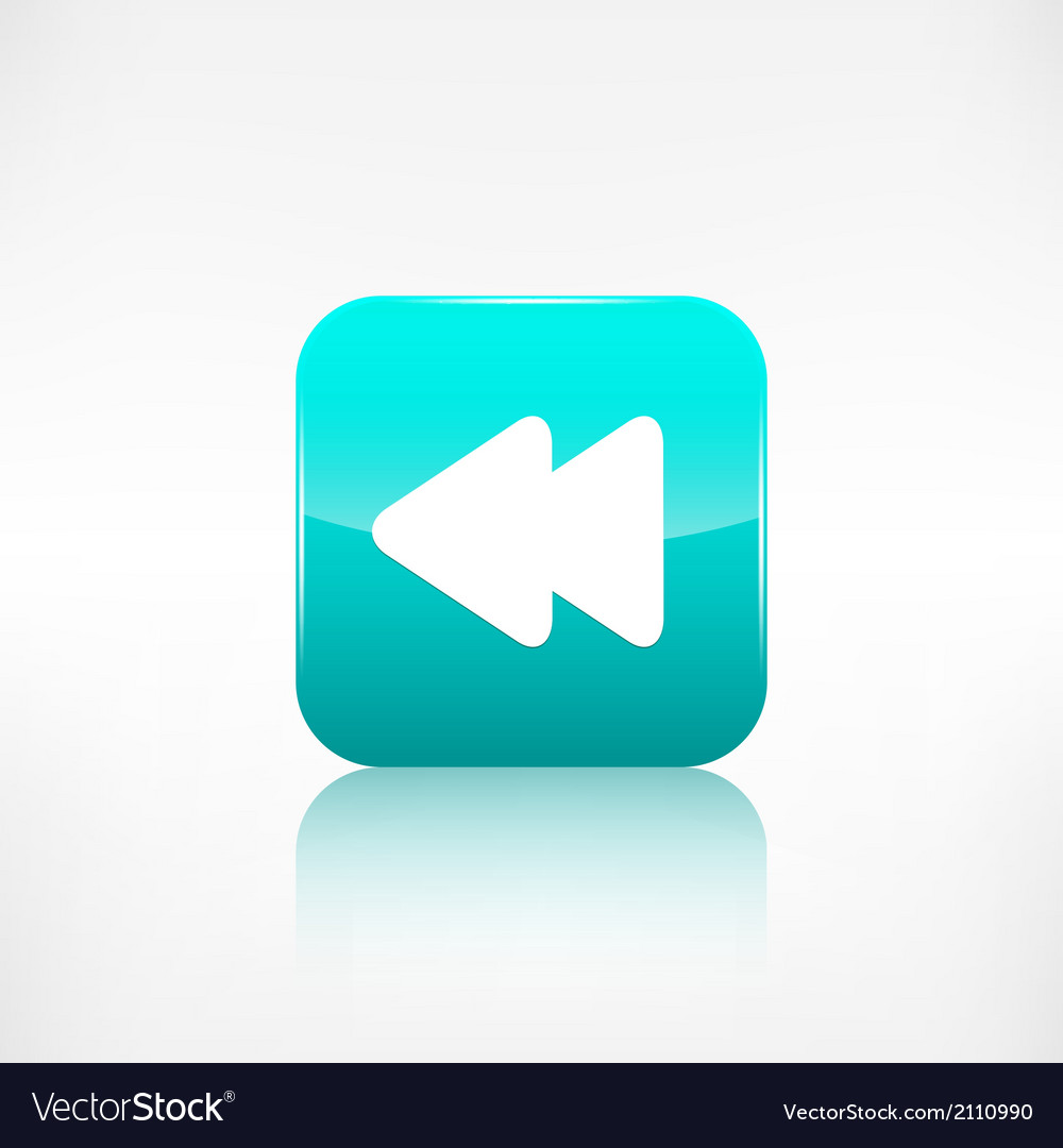 Reverse or rewind icon media player vector | Price: 1 Credit (USD $1)