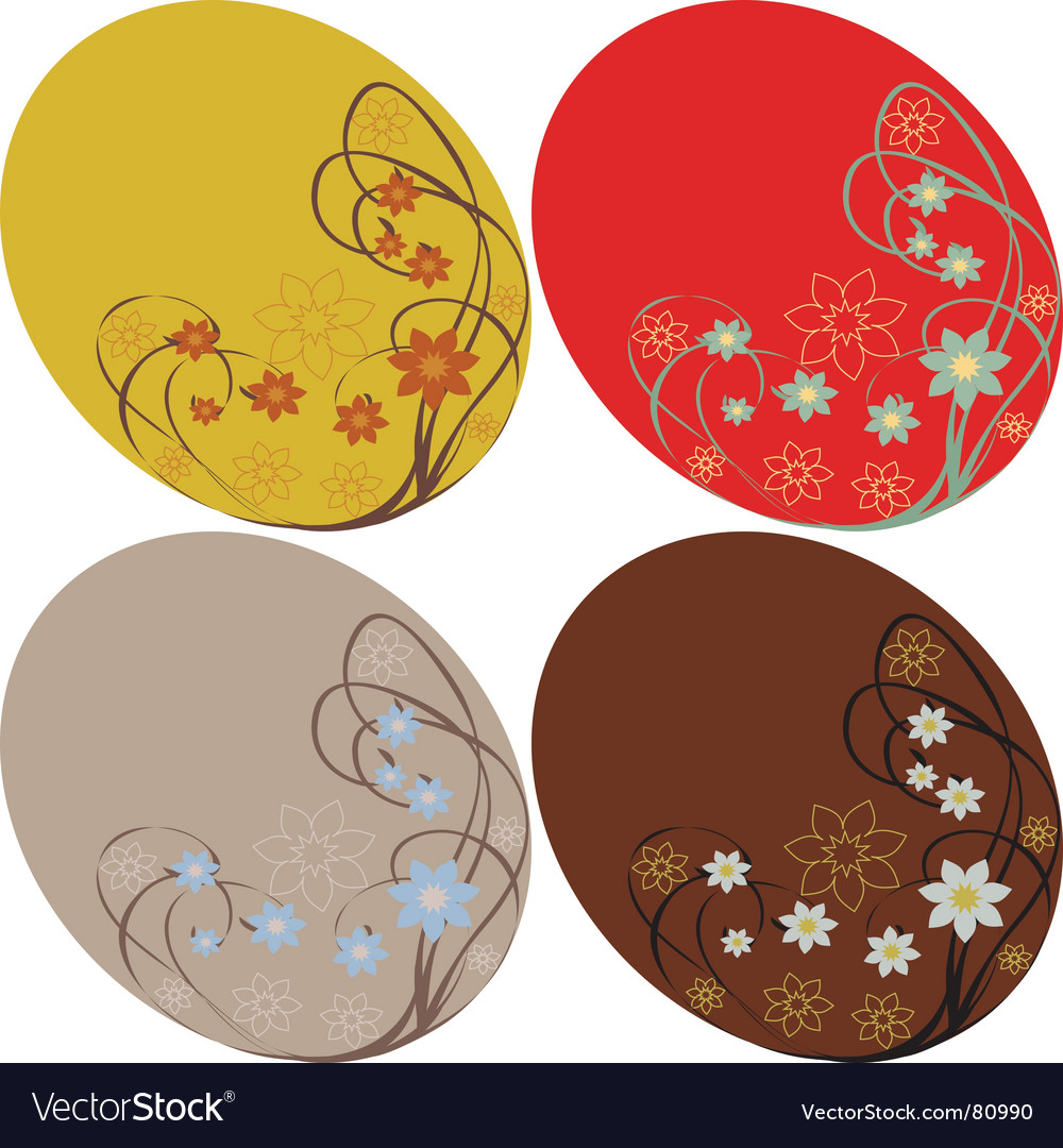 Set of floral backgrounds vector | Price: 1 Credit (USD $1)