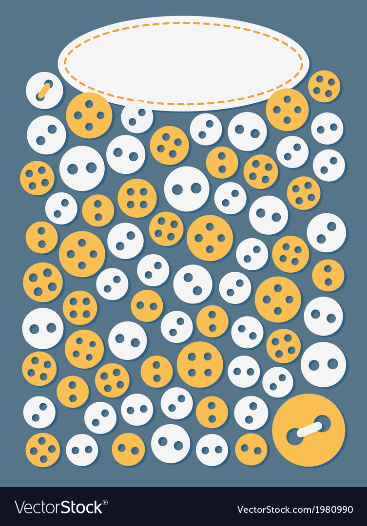 Sewing background with buttons vector | Price: 1 Credit (USD $1)