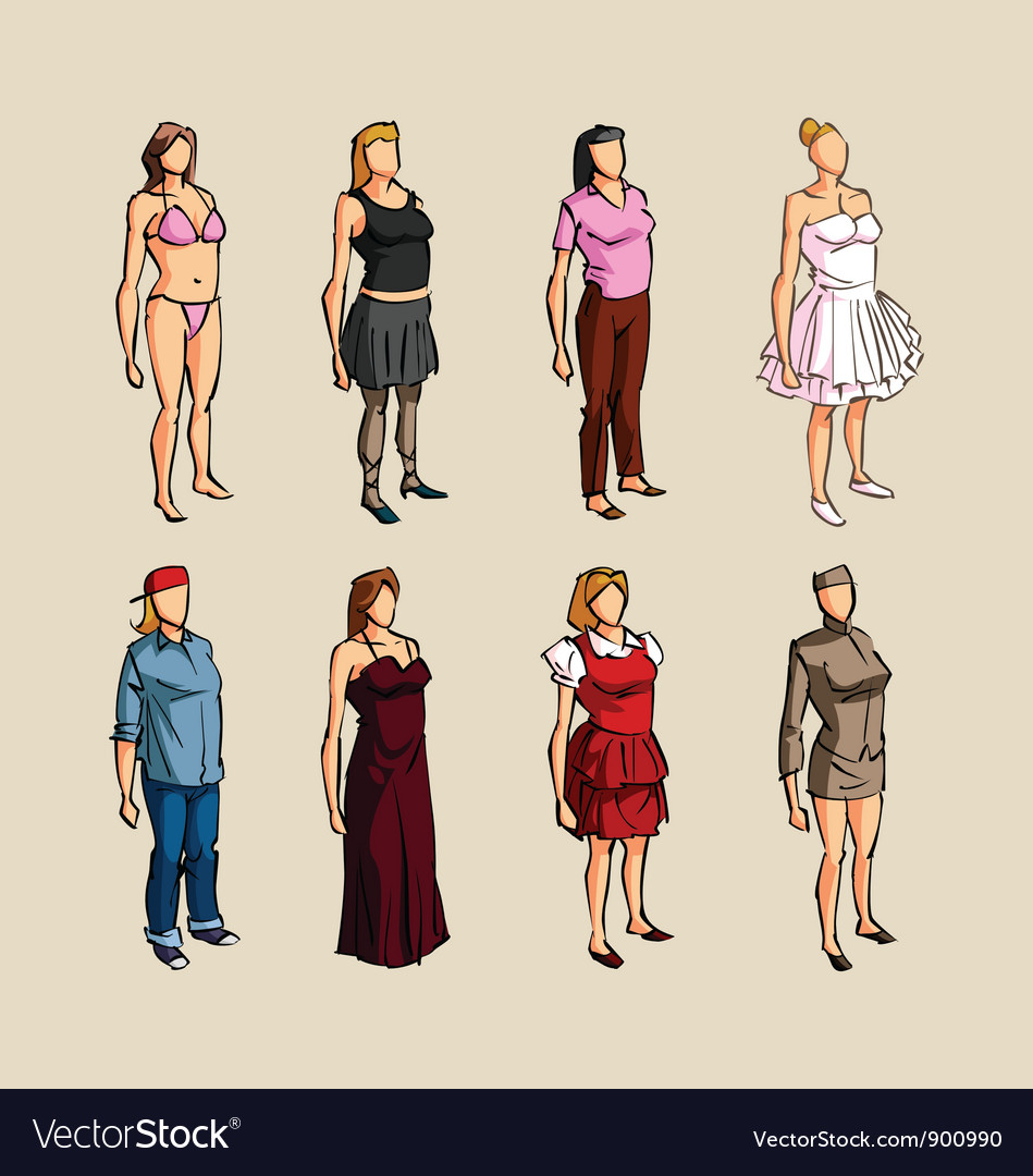 Sketch infographic woman elements vector   Price: 1 Credit (USD $1)