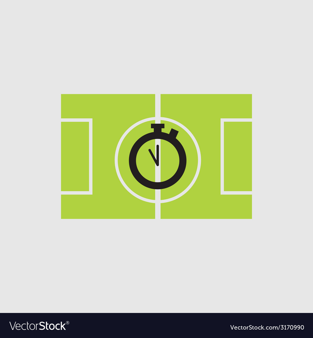 Soccer field - vector | Price: 1 Credit (USD $1)