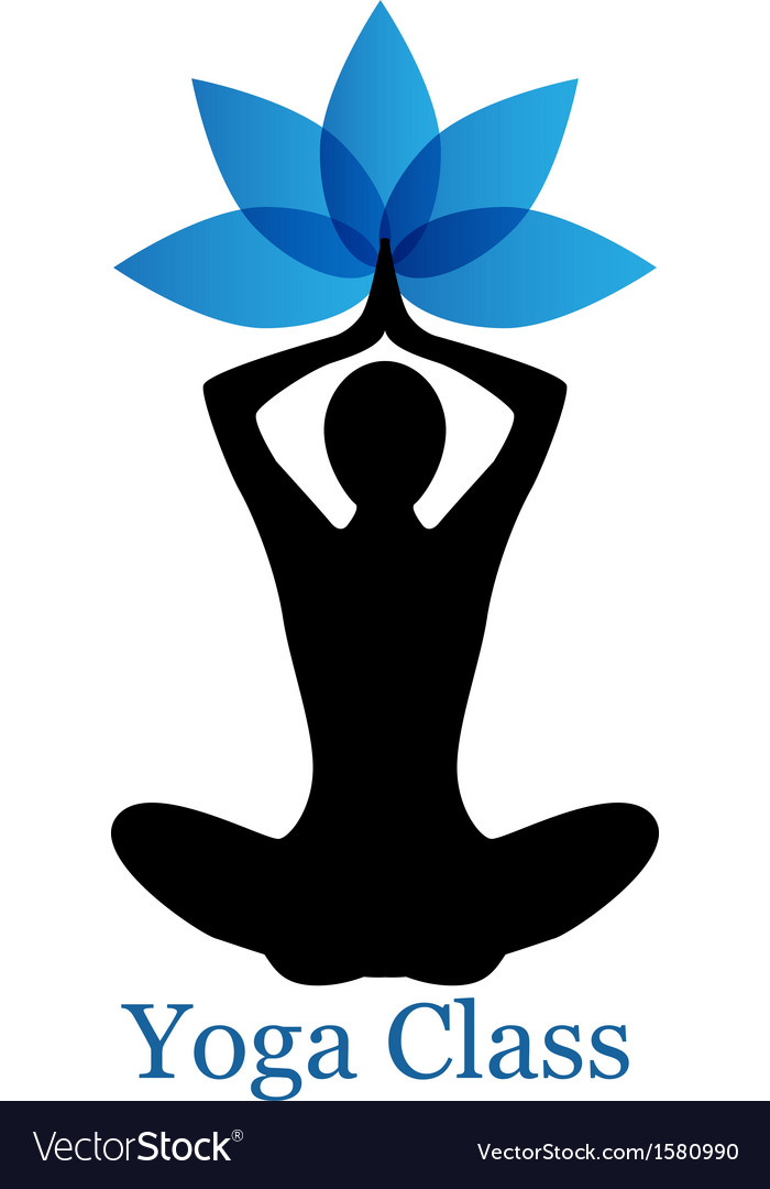 Yoga lotus icon vector | Price: 1 Credit (USD $1)