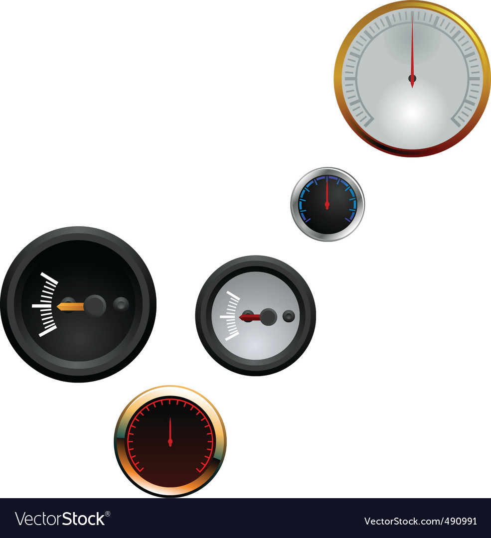 Analog gauge icon vector | Price: 1 Credit (USD $1)