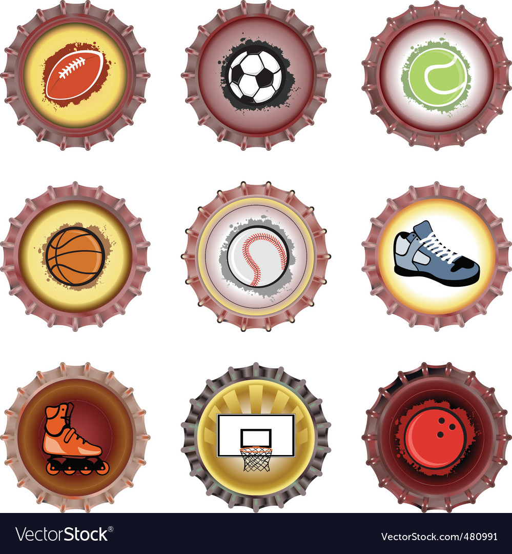 Bottle caps set sport vector | Price: 1 Credit (USD $1)
