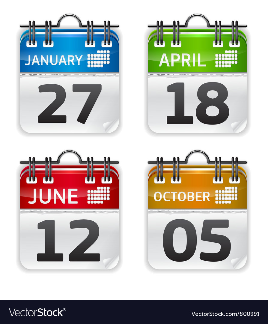 Calendar set vector | Price: 1 Credit (USD $1)