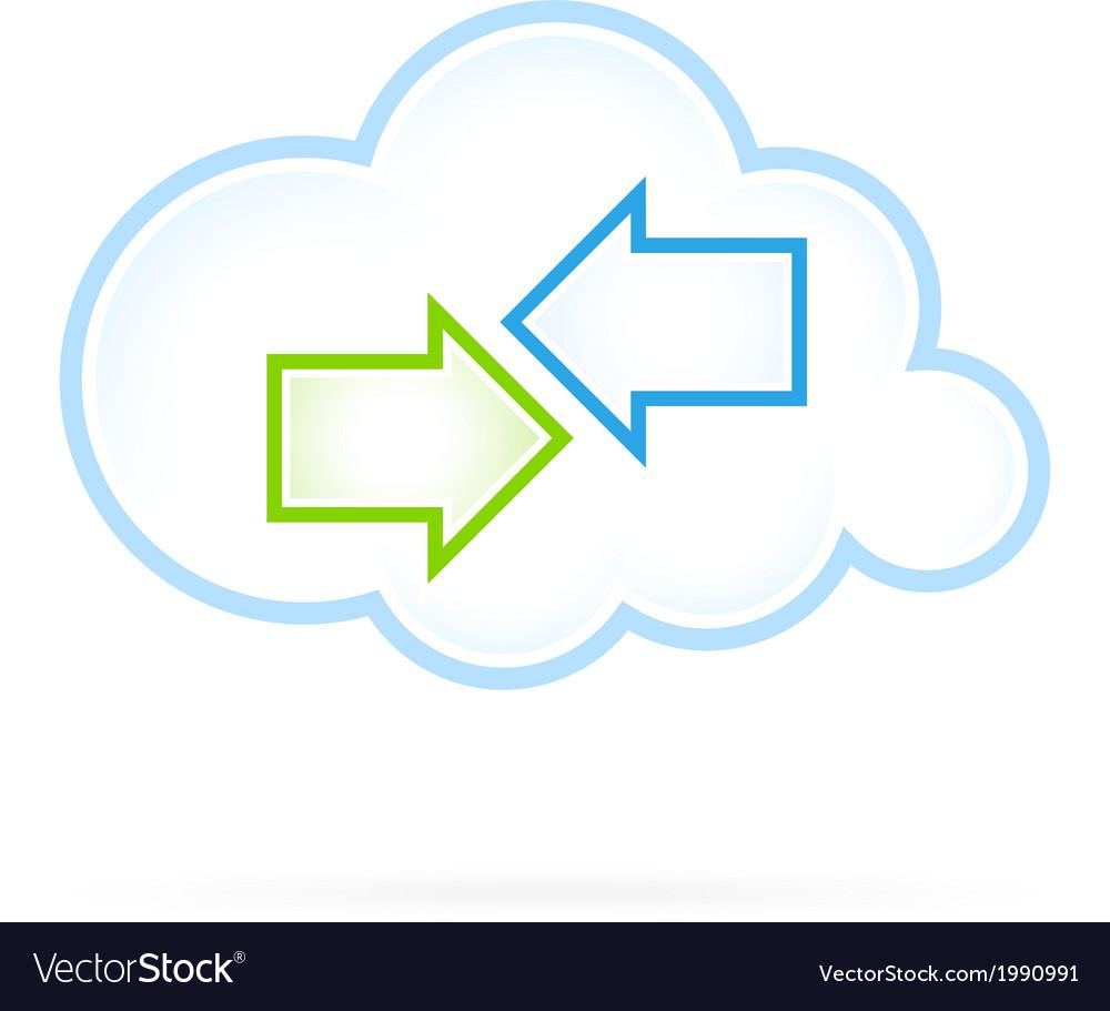 Cloud computing icon vector | Price: 1 Credit (USD $1)