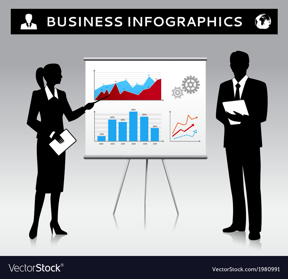 Flipchart presentation template with business vector | Price: 1 Credit (USD $1)