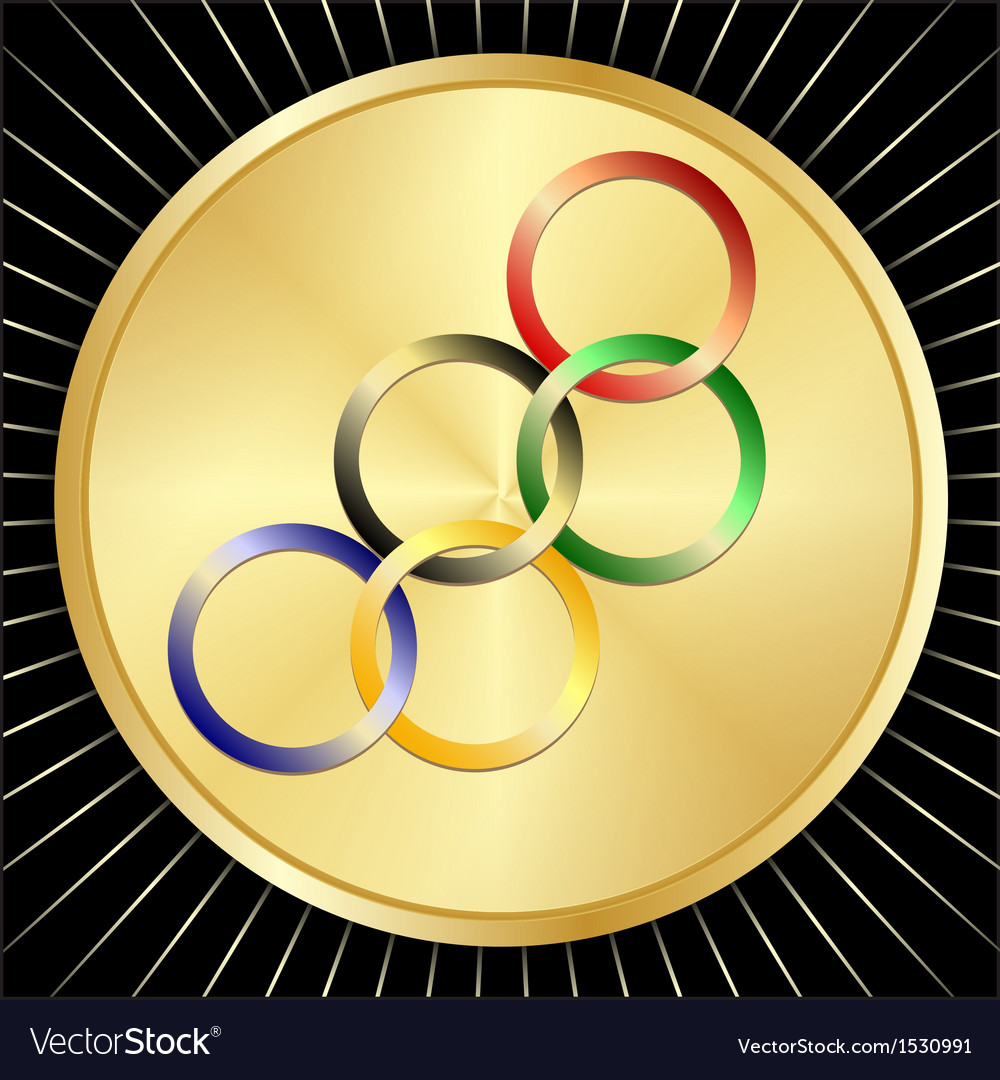 Olympic golden medal vector | Price: 1 Credit (USD $1)
