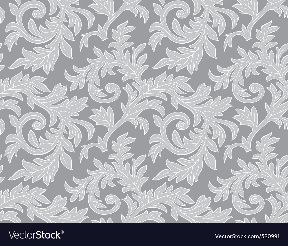 Seamless damask pattern vector | Price: 1 Credit (USD $1)